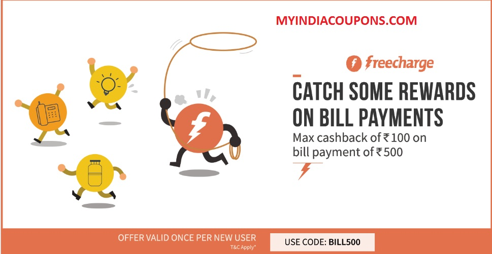 freecharge utility bill payment coupons