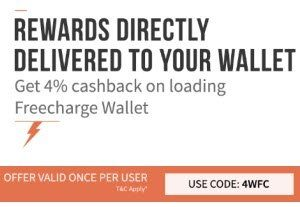 add money to freecharge wallet promo code freecharge wallet offer get 4 cashback on loading 13547