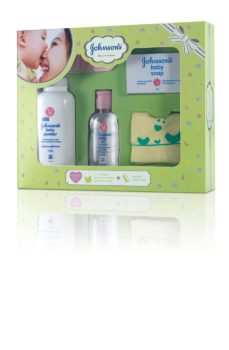 Johnson New Born Baby Kit Care Collection Products Oil